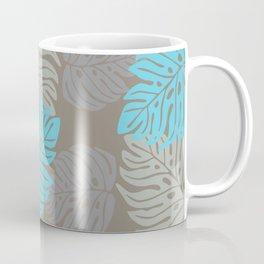 Hawaiian leaves pattern N0 2, Art Print collection, illustration original pop art graphic print Coffee Mug