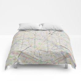 map of Paris – France, French,city of light,seine, parisien, parisian. Comforters