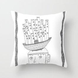 boat castle hat Throw Pillow