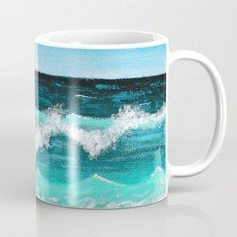 Beach Painting — Ocean Painting — Nautical Acrylic Painting — Ocean Eaves Crashing Design Coffee Mug