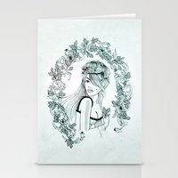 charmaine olivia Stationery Cards featuring Olivia by Quill