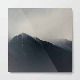 the Sierra Nevadas in the middle of a storm ... Metal Print