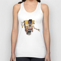 borderlands Tank Tops featuring Borderlands Claptrap Watercolour by DifficultyEasy