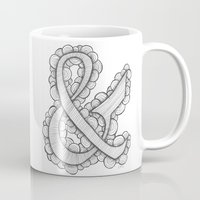 ampersand Mugs featuring Ampersand by Laura Maxwell