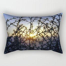 Pacific Coast Sunset Through the Trees at Torrey Pines State Beach, California - Color Photo Rectangular Pillow