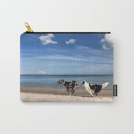 Playing dogs at the beach Carry-All Pouch