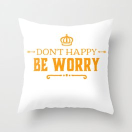Happiness Is Exaggerated Throw Pillow