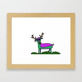 The Neon Deer Framed Art Print
