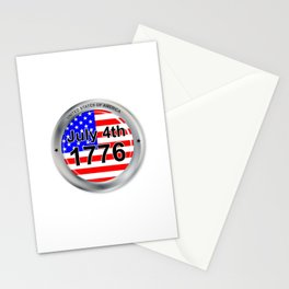 July 4th Button Stationery Cards
