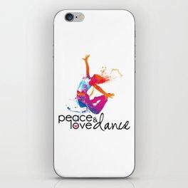 Peace & love Dance iPhone Skin
