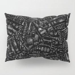 Musical Instrument Vintage Patent Pattern Pillow Sham