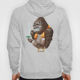 A gorilla relaxing after taking bath Hoody