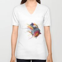 hot air balloon V-neck T-shirts featuring Hot Air Balloon by Courtney Jean