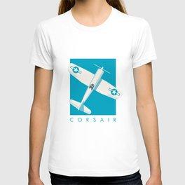 F4U Corsair Fighter Aircraft - Cyan T-shirt