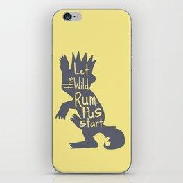 Let the Wild Rumpus Start iPhone Skin
