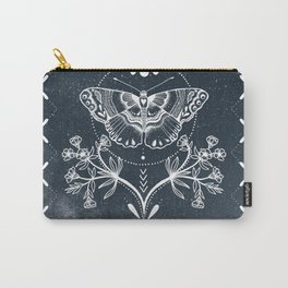 Magical Moth White Carry-All Pouch