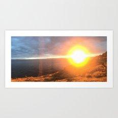 Sunset on San Juan Island Art Print