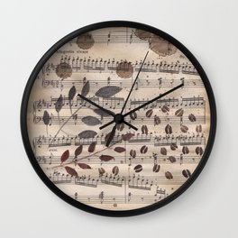 Old paper. Notes. Wall Clock