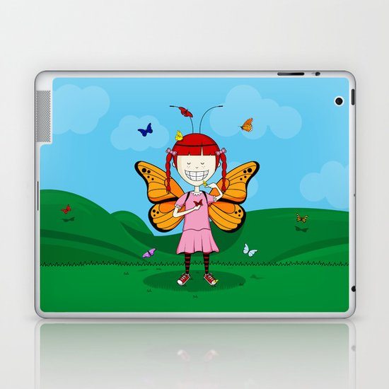 i heart butterflies Laptop & iPad Skin