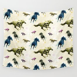 Horse Race Wall Tapestry