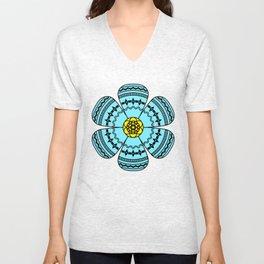 Hippie Geometric Flower Unisex V-Neck
