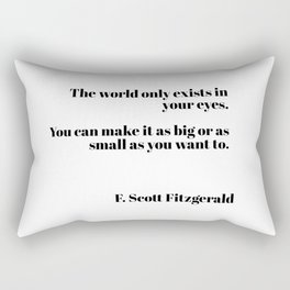 Fitzgerald quote Rectangular Pillow