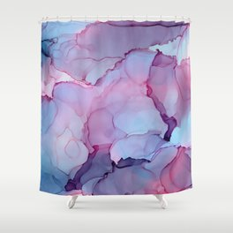 Alcohol Ink - Dreamy Clouds Shower Curtain