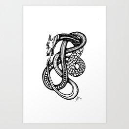 Jormungandr Art Print