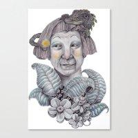 entourage Canvas Prints featuring Camouflage entourage  by Dirtyliketheweeds