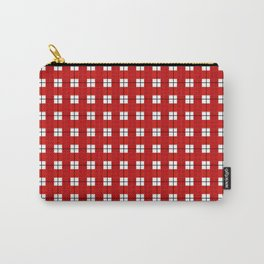 Chequered Grid - Red Carry-All Pouch