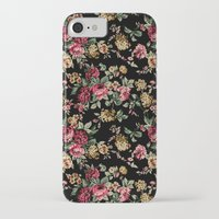 vintage flowers iPhone & iPod Cases featuring Vintage Flowers by Eduardo Doreni