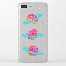 Sugar rings of Saturn Clear iPhone Case