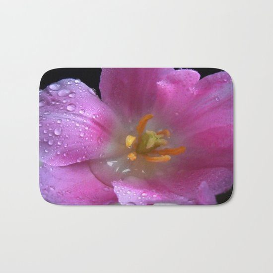 Tulip after Rain Bath Mat
