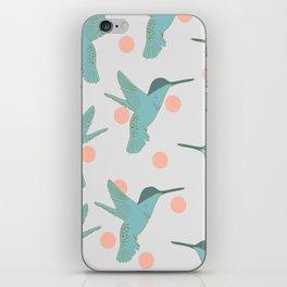 flight of the hummingbirds - grey iPhone Skin
