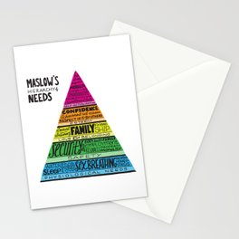 Maslow's Hierarchy of Needs, Brights Stationery Cards