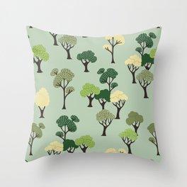 Quiet Trees Throw Pillow