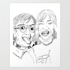 Yearbook Faces Art Print