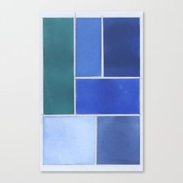 A Story Told in Hues of Blue Canvas Print