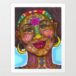 Wisdom Keeper Color #1 (Beauty) Art Print