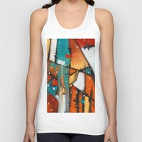 camp Tank Tops featuring Camp fire by mystudio69