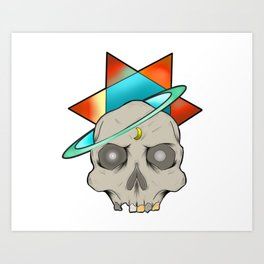 Star skull Art Print