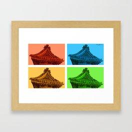 a few reflections on an elegant curve Framed Art Print