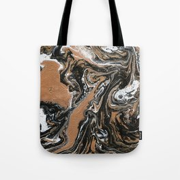 Fluid Gold - Abstract, acrylic, art painting Tote Bag