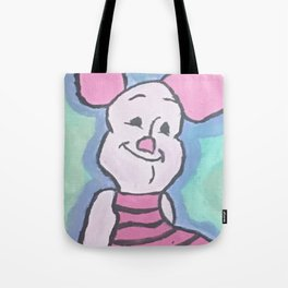 Piglet Acrylic on Canvas Tote Bag