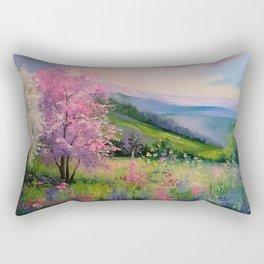 Spring in the Carpathians Rectangular Pillow