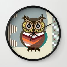 The Wise Owl Wall Clock
