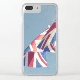 Flags - Union Jacks against a blue sky Clear iPhone Case