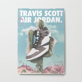 Travis x Air Jordan 1 Poster Metal Print
