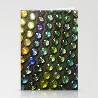 nail polish Stationery Cards featuring Marbles and Nail Polish by cirqueduchloe