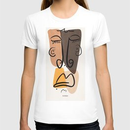 Sad Snob, Abstract Home Decor, Line Face, Portrait, Picasso Inspired T-shirt